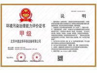 环境污染治理能力评价证书